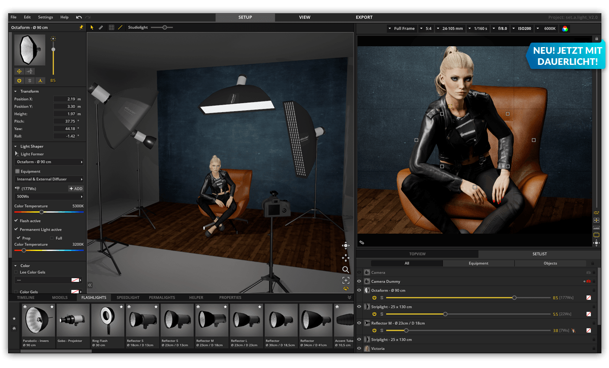 Setalight 3d V20 Lighting Simulator For Photographers Diagram Creator Mac All Of Your Equipment Is Packed Into One Single Program